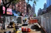 New York road repair — Stock Photo