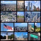 Chicago collage — Stock Photo