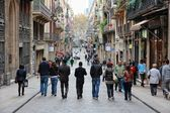 Barcelona street — Stockfoto