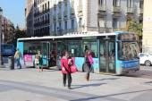 Madryt autobus — Zdjęcie stockowe