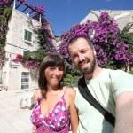 Vacation couple selfie — Stock Photo #66076859