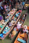Floating market, Thailand — Stock Photo