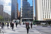 Avenida Paulista, Sao Paulo — Stok fotoğraf