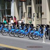 New York bicycles — Stock Photo