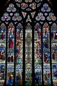 Stained glass in England — Foto Stock