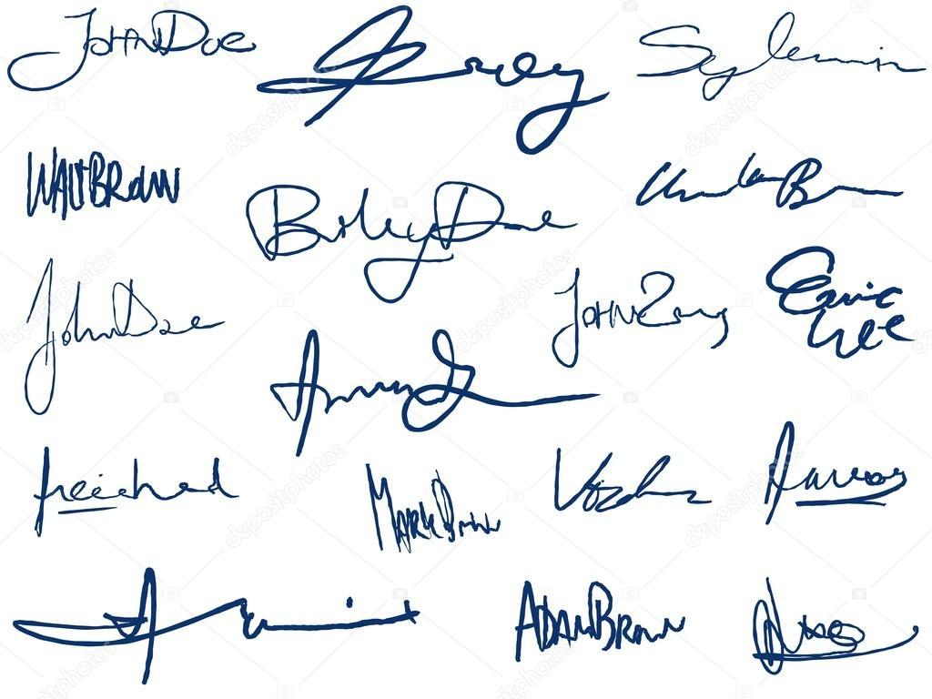 Handwritten signatures — Stock Vector © tupungato #77050529