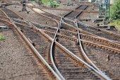 Railway switch — Stock Photo