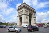 Paris traffic — Stock Photo