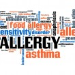 Постер, плакат: Allergies word cloud