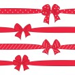 Red bows with ribbons — Stock Vector #53551685
