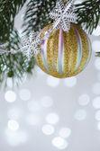 Christmas ornament ball — Stock Photo