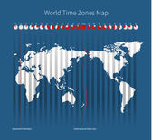 World Time Zones Map — Stock Vector