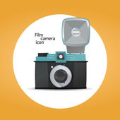 Film camera icon concept — Stock Vector