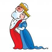 Cartoon king and queen — Stock Vector