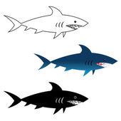 Great White Shark — Stock Vector