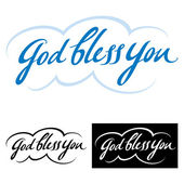 God bless you set — Stock Vector