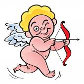Funny little cupid — Stock Vector