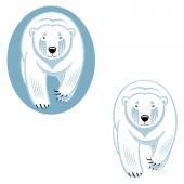 Vit isbjörnar — Stockvektor