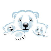 White polar bears — Stock Vector