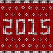 New year knitted background — Stock Vector