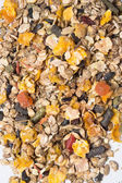 Natural  muesli  background with fruites. for horse. — Stock Photo