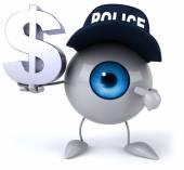 Fun eye with dollar sign — Stock Photo