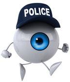 Fun eye in police cap — Stock fotografie