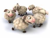 Fun sheep — Stockfoto