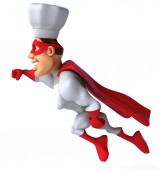 Fun superhero — Stock Photo