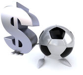 Football ball with dollar sign — Stock Photo