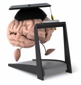 Brain on a treadmill — Stock Photo