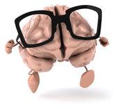 Brain in glasses — Stock Photo