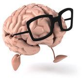 Mózg w okularach — Zdjęcie stockowe