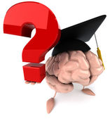 Brain with question mark — Stock Photo