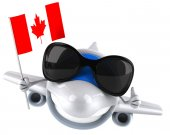 Fun plane with Canadian flag — Stock Photo