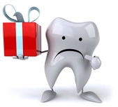 Fun tooth with gift — Stockfoto