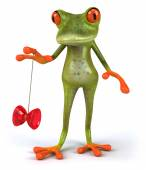 Fun frog and yoyo — Stock Photo