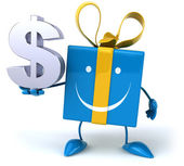 Fun gift with dollar sign — Stock Photo