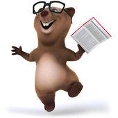 Fun bear with book — Stock Photo