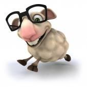 Fun sheep in glasses — Stock Photo