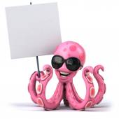 Fun octopus in sunglasses — Stock Photo