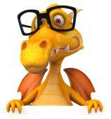 Fun dragon in glasses — Stock Photo
