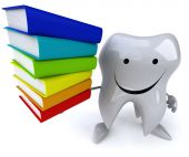 Tooth with books — Stock Photo