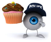 Fun eye with cupcake — Stock Photo