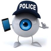 Fun eye with smart phone — Stock Photo