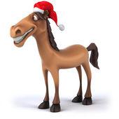 Fun horse in Santa hat — Φωτογραφία Αρχείου