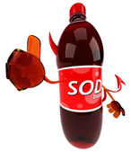 Fun soda with thumb up — Stock Photo