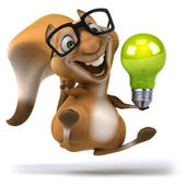 Fun squirrel with lamp — Foto de Stock