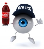 Eye  in police hat — Stock Photo