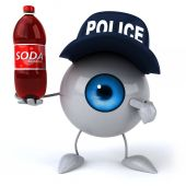 Eye  in police hat — Foto de Stock